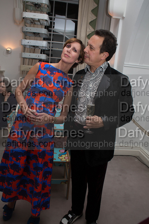 DETMAR BLOW; VALERIA NAPOLEONE Valeria Napoleone hosts a dinner at her home in honour of Judith Hopf in cerebration of her new commission at Studio Voltaire. London. 15 October 2013