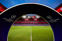 MUNICH, GERMANY - Wednesday, March 13, 2019: The UEFA arch at the Allianz Arena ahead of the UEFA Champions League Round of 16 2nd Leg match between FC Bayern München and Liverpool FC. (Pic by David Rawcliffe/Propaganda)