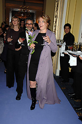 DAVID BADDIEL and EMMA THOMPSON at the 10th Anniversary Party of the Lavender Trust, Breast Cancer charity held at Claridge's, Brook Street, London on 1st May 2008.<br />