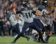 WEST LAFAYETTE, IN - SEPTEMBER 15: David Blough #11 of the Purdue Boilermakers throws the ball during the game against the Missouri Tigers at Ross-Ade Stadium on September 15, 2018 in West Lafayette, Indiana. (Photo by Michael Hickey/Getty Images) *** Local Caption *** David Blough NCAA Football - Purdue Boilermakers vs Missouri Tigers at Ross-Ade Stadium in West Lafayette, Indiana. Sports photographer by Michael Hickey