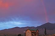 Rain, Rainbow, Sunset, Syringa Lodge Bed and Breakfast, Syringa Lodge, Bed and Breakfast, Salmon,  Idaho
