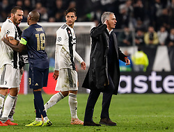 November 8, 2018 - Turin, Italy - Manchester United head coach Jose Mourinho (R) gestures during the Group H match of the UEFA Champions League between Juventus FC and Manchester United FC on November 7, 2018 at Juventus Stadium in Turin, Italy. (Credit Image: © Mike Kireev/NurPhoto via ZUMA Press)