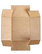 unfolded carton box bottom
