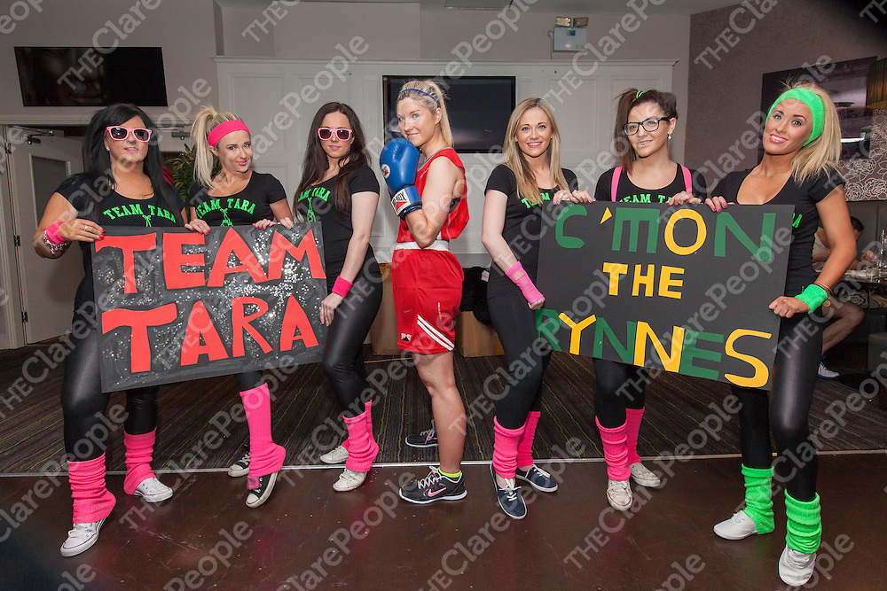 Miltown's Tara Rynne with her supporters before the fight
