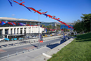 General view outside of the Vodafone Park Stadium Besiktas of the Liverpool and Chelsea Training sessions ahead of the 2019 UEFA Super Cup Final between Liverpool FC and Chelsea FC at BJK Vodafone Park, Istanbul, Turkey on 13 August 2019.