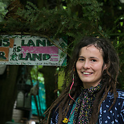 "Petra has been involved in solidarity movements for years and has recently moved into the Save Leith Hill protectors camp. ""Fracking is a massive tragedy to nature and  am planning to stay as long as it takes to stop this."" ( The technique used to extract the oil is very similar to fracking.) Europa Oil and Gas company has got license to drill for oil in the woods near Leith Hill.  Proetctors of the land, a group of local campaigners against the proposed drilling and activists have set up a community camp on Coldharbour Lane to  protect Leith Hill from the unconventional oil exploration, through monitoring, awareness raising, and peaceful community action."