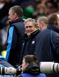 09.02.2013 Edinburgh, Scotland.    Scotland's Coach Scott Johnson during the RBS Six Nations Championship match between Scotland and Ireland, from Murrayfield Stadium.