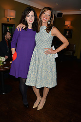 Left to right, SALLY WOOD and HEATHER KERZNER at a party to launch Madderson London Women's Wear held at Beaufort House, 354 Kings Road, London on 23rd January 2014.