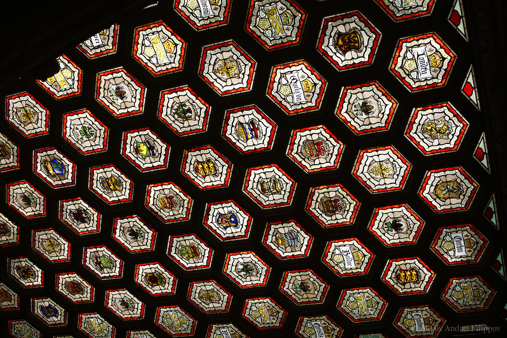 Interiors of the Parliament Building in Ottawa, Ontario, Canada on February 22, 2009. The ceiling of the foyer of the House of Commons.