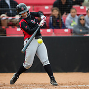 12 May 2018: San Diego State infielder Katie Byrd seen here during an at bat in the first inning. San Diego State women's softball closed out the season against Utah State with a 4-3 win on seniors day and sweep the series. <br /> More game action at sdsuaztecphotos.com