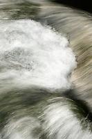 Turbulent water details, Plitvice National Park, Croatia