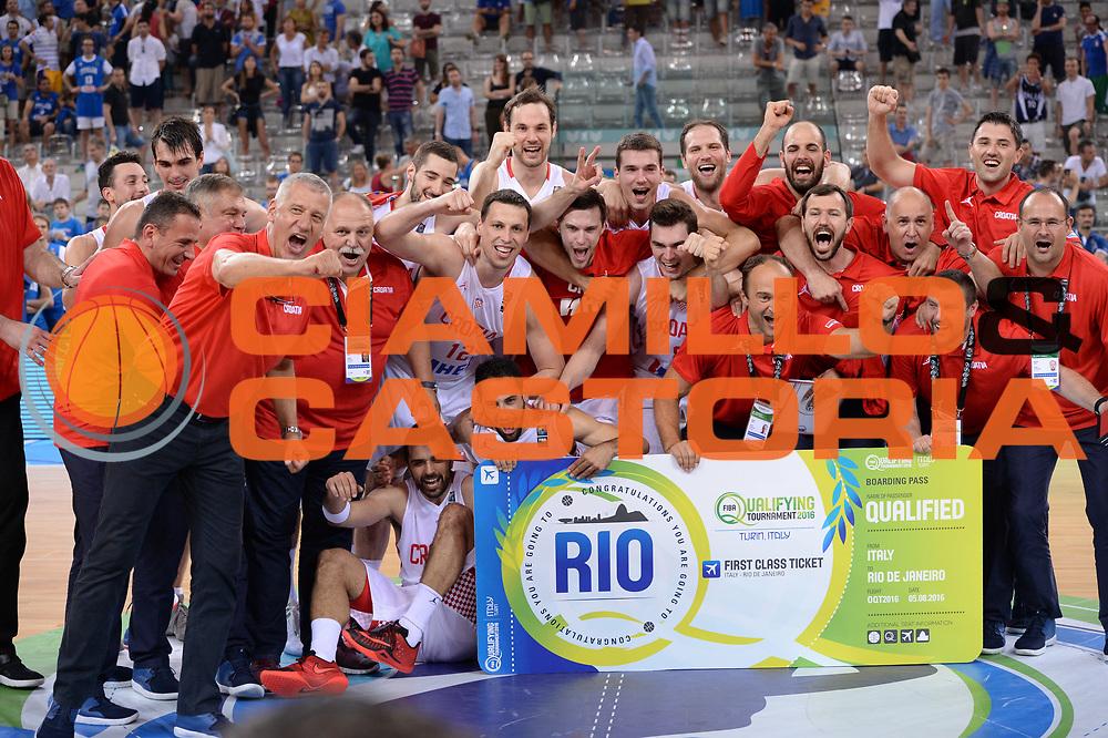 DESCRIZIONE: Torino FIBA Olympic Qualifying Tournament Finale Italia - Croazia<br /> GIOCATORE: CROATIA CROAZIA<br /> CATEGORIA: Nazionale Italiana Italia Maschile Senior<br /> GARA: FIBA Olympic Qualifying Tournament Finale Italia - Croazia<br /> DATA: 09/07/2016<br /> AUTORE: Agenzia Ciamillo-Castoria
