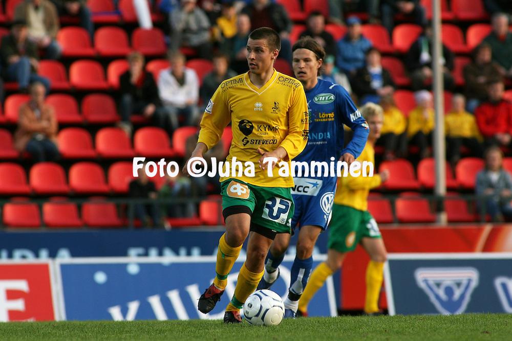 26.04.2007, Ratina, Tampere, Finland..Veikkausliiga 2007 - Finnish League 2007.Tampere United - FC KooTeePee.Mika H?nninen - KooTeePee.©Juha Tamminen.....ARK:k