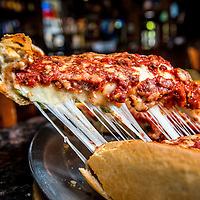 The Chicago Pie deep dish stuffed with spinach at Romano's on Canyon Crest Dr. in Riverside, Aug. 28, 2014.  (Eric Reed/Redlands Magazine)