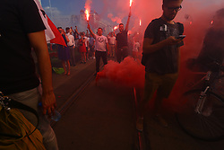 August 1, 2018 - Warsaw, Poland - Thousands gather to remember on Warsaw Uprising on its 74th anniversary in the heart of downtown. (Credit Image: © Jakob Ratz/Pacific Press via ZUMA Wire)