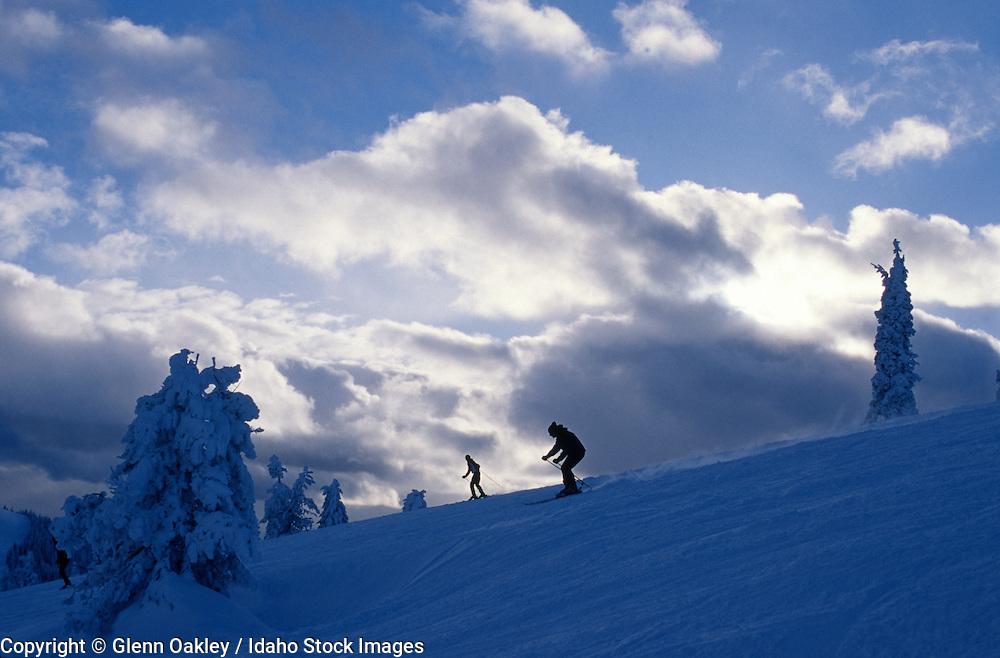 Skiing Schweitzer Ski resort, Coeur d' Alene, Idaho.