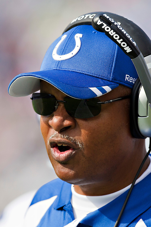 NASHVILLE, TN - OCTOBER 30:   Head Coach Jim Caldwell of the Indianapolis Colts on the sidelines during a game against the Tennessee Titans at the LP Field on October 30, 2011 in Nashville, Tennessee.  The Titans defeated the Colts 27 to 10.  (Photo by Wesley Hitt/Getty Images) *** Local Caption *** Jim Caldwell