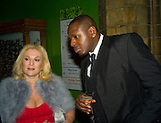 Vanessa Felz and Ben Ofoedu, Save the Children's Festival of Trees Gala dinner. Natural History Museum. London. 4 December 2007. -DO NOT ARCHIVE-© Copyright Photograph by Dafydd Jones. 248 Clapham Rd. London SW9 0PZ. Tel 0207 820 0771. www.dafjones.com.