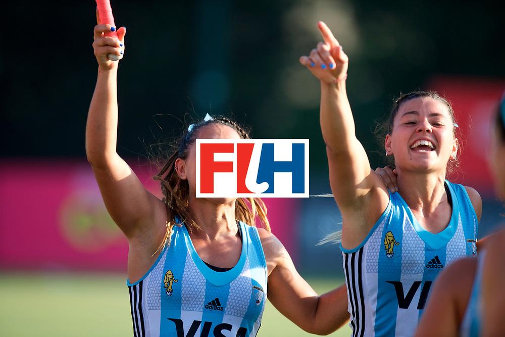 SANTIAGO - 2016 8th Women's Hockey Junior World Cup<br /> ARG v USA (QF)<br /> foto: Argentine party.<br /> FFU PRESS AGENCY COPYRIGHT FRANK UIJLENBROEK