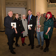 23.03.16<br /> LSAD are delighted to host SYMBOLS: Culture of Death and Cultural Life, a Creative Europe Project under the European Commission. <br /> <br /> Attending the exhibition were, Mike Fitzpatrick, Limerick 2020, Fiona Quill, LSAD, Sheila Deegan, Limerick 2020, Dr. Liam Browne, LIT, Des McMahon, Curator,  and Dr. Tracy Fahey, LSAD.<br /> <br /> LSAD are one of the seven partners in this Creative Europe project which is running from 2014-2016. This exhibition will feature work from international printmakers, dancers and musicians from 7 European countries. This show embraces not only the work created by these artists during two residencies responding to the theme of symbols, one in Aviles, Spain and one in Dundee Scotland and includes work by Limerick artists, musicians and dancers, Gemma Dardis, Mary O'Dea, Jennifer Brown and Hannah Fahey, but also offers a response by the students of the printmaking department in LSAD to the historic Limerick cemeteries of Mount St. Lawrence and St. John's. The students created an exciting and thought provoking body of work which is showing along side these international artists. Picture: Alan Place/Fusionshooters