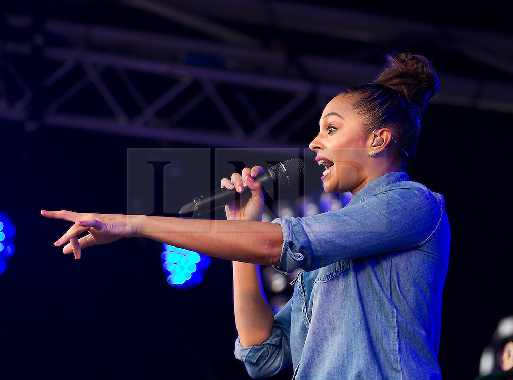 © Licensed to London News Pictures. 24/10/2012. LONDON, UK. X-Factor judge and singer Alesha Dixon is seen performing at the launch of the Royal British Legion's 2012 Poppy Appeal in Trafalgar Square, London, today (24/10/12).  Photo credit: Matt Cetti-Roberts/LNP