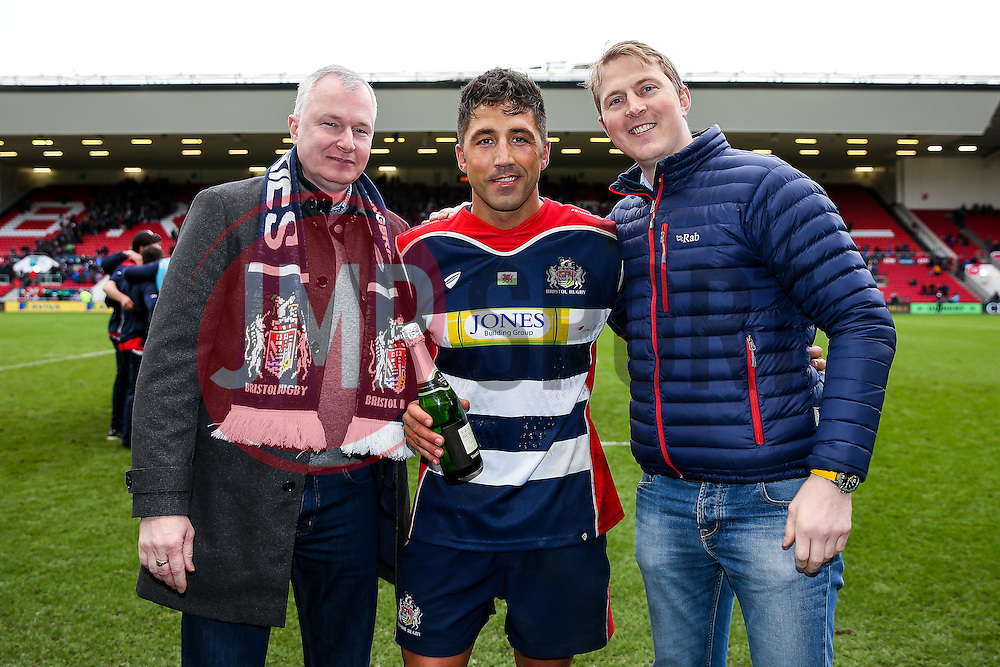 Man of the match presentation to Gavin Henson of Bristol Rugby after Bristol Rugby win 12-11 - Rogan Thomson/JMP - 26/02/2017 - RUGBY UNION - Ashton Gate Stadium - Bristol, England - Bristol Rugby v Bath - Aviva Premiership.