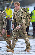 """23.01.2013, RAF Brize Norton, UK: PRINCE HARRY.arrives at RAF Brize Norton, following his tour of duty in Afghanistan..Harry (sporting a Rolex Watch) spent a few days in Cyprus before returning to the UK..Mandatory Credit Photo: ©Crouch/NEWSPIX INTERNATIONAL..**ALL FEES PAYABLE TO: """"NEWSPIX INTERNATIONAL""""**..IMMEDIATE CONFIRMATION OF USAGE REQUIRED:.Newspix International, 31 Chinnery Hill, Bishop's Stortford, ENGLAND CM23 3PS.Tel:+441279 324672  ; Fax: +441279656877.Mobile:  07775681153.e-mail: info@newspixinternational.co.uk"""