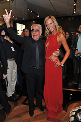 ROBERTO CAVALLI and LADY VICTORIA HERVEY at a party hosted by Roberto Cavalli to celebrate his new Boutique's opening at 22 Sloane Street, London followed by a party at Battersea Power Station, London SW8 on 17th September 2011.