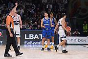 Carmela Loguzzo, Laquintana Tommaso<br /> Fortitudo Pompea Bologna - Germani Basket Brescia<br /> Zurich Connect LBA Final 8 2020<br /> Quarti di Finale<br /> Pesaro, 14/02/2020<br /> Foto Michele Longo // CIAMILLO-CASTORIA