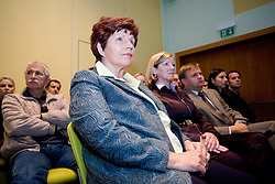"""Zdenka Cerar at presentation of a new book of one of the best Slovenian gymnast Miro Cerar named """"Miroslav Cerar in njegov cas - Miroslav Cerar and his time"""" at his 70 years anniversary, on October 30, 2009, in Hotel Mons, Ljubljana, Slovenia.   (Photo by Vid Ponikvar / Sportida)"""