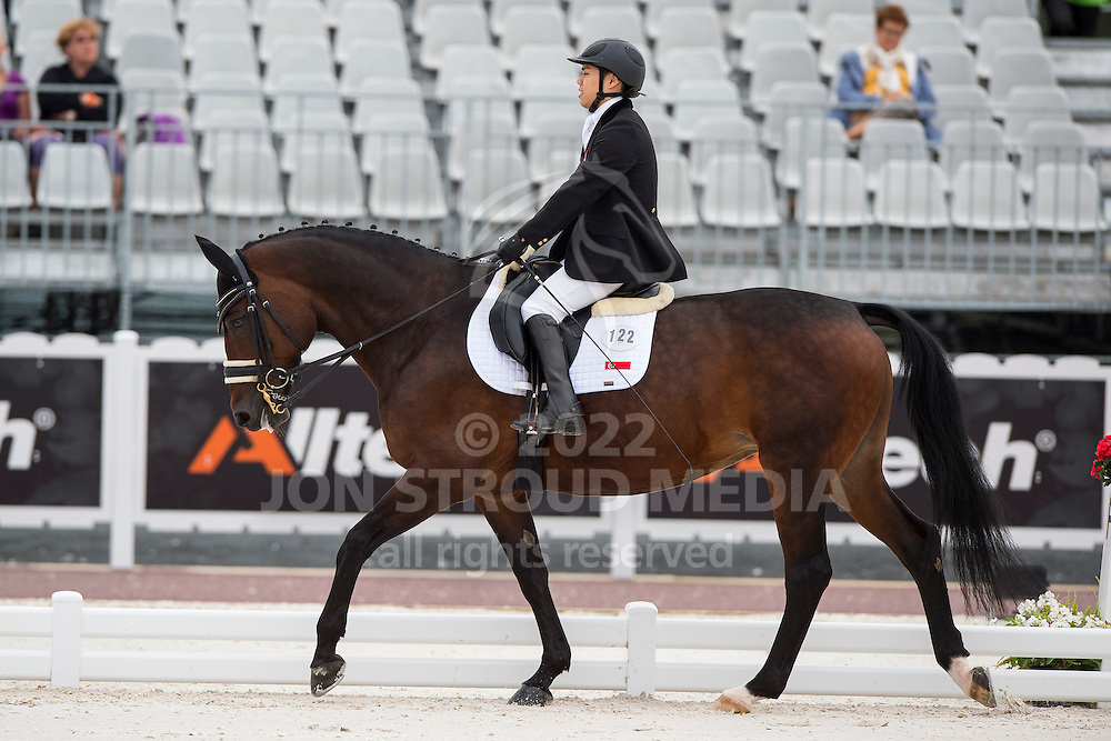 Maximillian Tan, (SIN), Don's Day Dream - Individual Test Grade Ib Para Dressage - Alltech FEI World Equestrian Games&trade; 2014 - Normandy, France.<br /> &copy; Hippo Foto Team - Jon Stroud <br /> 25/06/14