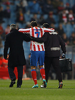 12.12.2012 SPAIN - Copa del Rey 12/13 Matchday 8th  match played between Atletico de Madrid vs Getafe C.F. (3-0) at Vicente Calderon stadium. The picture show Adrian Lopez Alvarez (Spanish striker of At. Madrid)