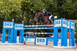 KUTSCHER Marco (GER), Blockbuster<br /> - Stechen -<br /> Großer Preis der Deutschen Kreditbank AG (CSI2*)<br /> Springprüfung mit Stechen, international<br /> Höhe: 1,45m<br /> Paderborn - OWL Paderborn Challenge 2020<br /> 13. September2020<br /> © www.sportfotos-lafrentz.de/Stefan Lafrentz