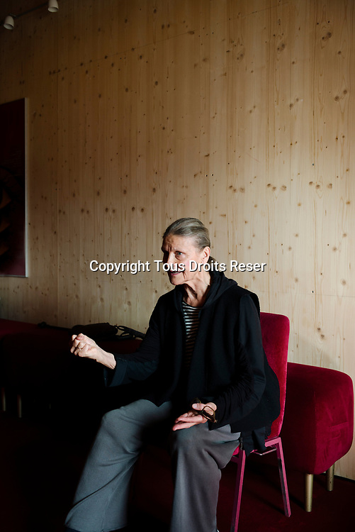 Genève, octobre 2017. Reinhild Hoffmann, chorégraphe pour le BALLET TANZTHEATER. Le ballet de l'Opéra des Nations joue Callas du 10 au 17 octobre. © Olivier Vogelsang