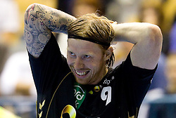 Borge Lund (#9) of RNL during Velux EHL Champions league 2010/2011 Group A men handball match between HC Celje Pivovarna Lasko of Slovenia and Rhein-Neckar Loewen of Germany, on October 2, 2010 in Arena Zlatorog, Celje, Slovenia. Rhein-Neckar Löwen defeated Celje Pivovarna Lasko 32 - 28. (Photo By Vid Ponikvar / Sportida.com)