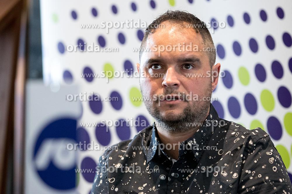 Branko Tamse of RK Celje Pivovarn Lasko at press conference of Slovenian Handball League before the Playoff, on March 15, 2017 in NLB Center inovativnega podjetnistva, Ljubljana, Slovenia. Photo by Matic Klansek Velej / Sportida