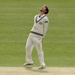 Middlesex's Ollie Rayner shows his frustration after an appeal for an LBW is turned down - Photo mandatory by-line: Robbie Stephenson/JMP - Mobile: 07966 386802 - 04/05/2015 - SPORT - Football - London - Lords  - Middlesex CCC v Durham CCC - County Championship Division One