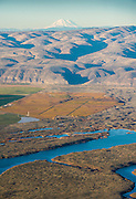 Aerial View over Ancient Lakes AVA, Washington