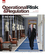 Rudi Bonte of the Belgian National Bank for the cover of Operational Risk and Regulation Magazine.