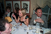 MARIELA FROSTRUP; A.A. GILL, Graydon Carter hosts a diner for Tom Ford to celebrate the London premiere of ' A Single Man' Harry's Bar. South Audley St. London. 1 February 2010