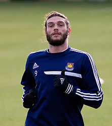 West Ham footballer Andy Carroll training at the club's training ground in Chigwell, Essex, Thursday, 5th December 2013 Photo by: i-Images