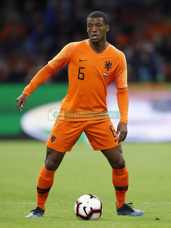 Georginio Wijnaldum of Holland during the International friendly match match between The Netherlands and Peru at the Johan Cruijff Arena on September 06, 2018 in Amsterdam, The Netherlands
