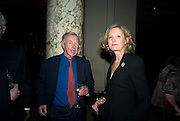 Sir Terence and Lady Conran, Opening of Blood on Paper: the art of the Book. V & A. Museum. London. 14 April 2008. Afterwards there was a dinner hosted by Lady Foster.  *** Local Caption *** -DO NOT ARCHIVE-© Copyright Photograph by Dafydd Jones. 248 Clapham Rd. London SW9 0PZ. Tel 0207 820 0771. www.dafjones.com.