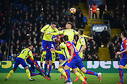 Everton Defender Ramiro Funes Mori clears the defence during the Premier League match between Crystal Palace and Everton at Selhurst Park, London, England on 21 January 2017. Photo by Jon Bromley.