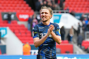 Luke Ayling (2)  of Leeds United applauds the Leeds fans at full time after a 1-0 win over Bristol City during the EFL Sky Bet Championship match between Bristol City and Leeds United at Ashton Gate, Bristol, England on 9 March 2019.