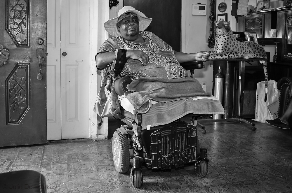 Ethel M. Harris, a long-time resident of St. James, is in constant fear she and her family will be trapped in case of an industrial accident or storm due to the lack of emergency evacuation route from the town