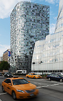 Architecture Photography NYC: jean nouvel 100 eleventh avenue and IAC Building by architect Frank Ghery, New York City, Chelsea, USA