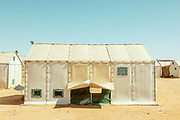 NIGER,, the refugee camp near the Agadez city, during the hot season the temperatures can t reach the peack of 50 degrees. in February the temperature excursione can go from 11 in the night to 32 degrees