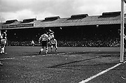 25/04/1965<br /> 04/25/1965<br /> 25 April 1965<br /> F.A.I. Cup Final: Shamrock Rovers v Limerick at Dalymount Park, Dublin. Limerick forward Doyle, who was later injured, jumps high on the shoulders of Shamrock Rovers back Keogh with Mulligan (6) on left.
