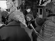 12/12/1978.12/12/1978.12th December 1978.National Association of Widows Protest outside Dail Eireann. Picture shows Mrs Eileen Lemass TD chatting with some of the protestors outside the Dail.
